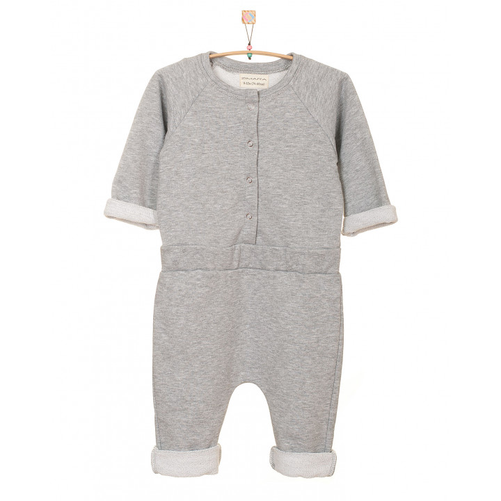 Детский комбинезон KMB001-3 серый меланж