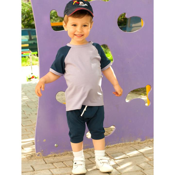 Детский комплект шорты и футболка (синий, фиолетовый) KMPL001-KsinKf