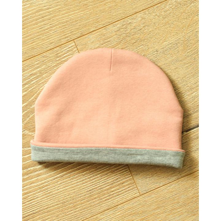 Женская шапка с начесом серо-розовая JSHP003-3Nsr