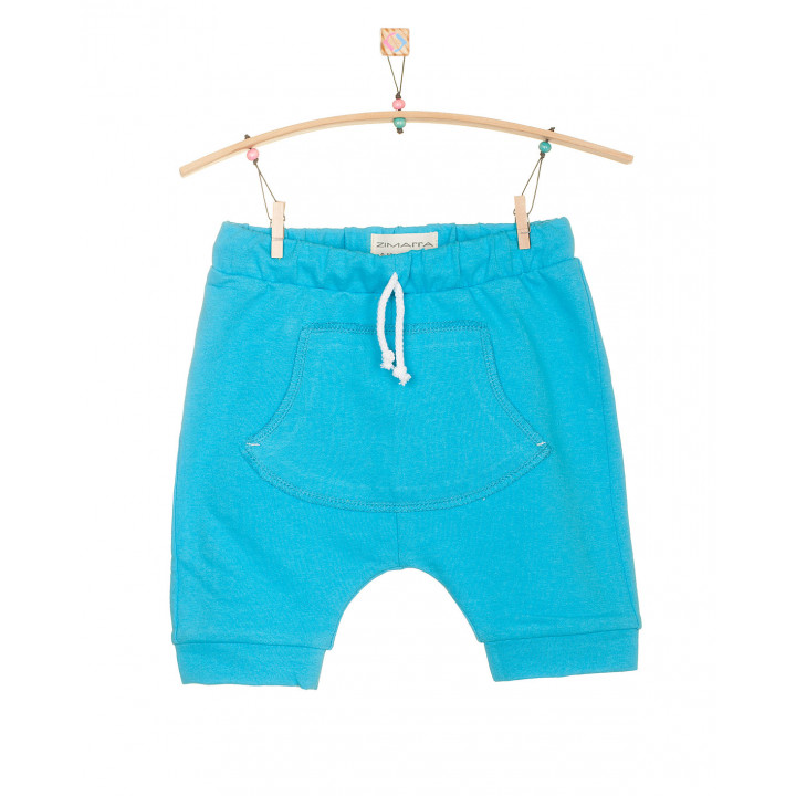 Детские шорты SH001 ярко-голубые с кармашком