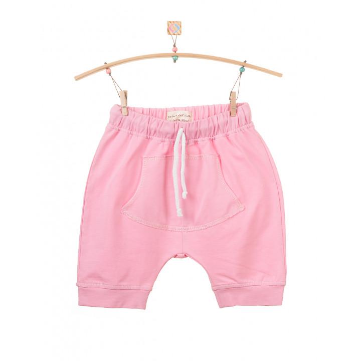 Детские шорты SH001-Kr розовые с кармашком (трикотаж)