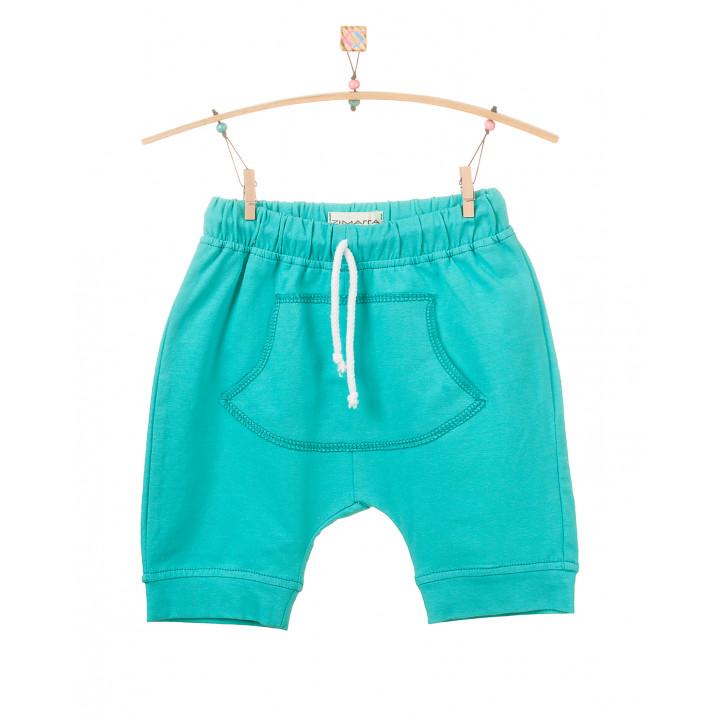 Детские шорты SH001 темно-ментоловые с кармашком (трикотаж)