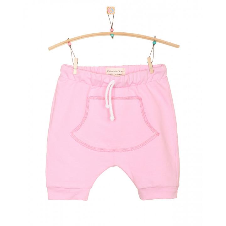 Детские шорты SH001 розовые с кармашком