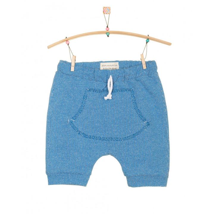 Детские шорты SH001-2Tsin синие с кармашком