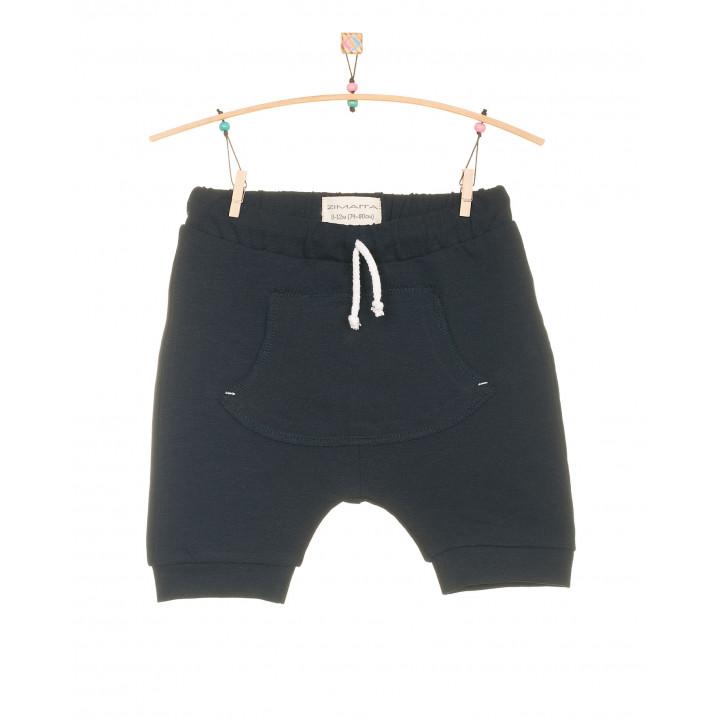 Детские шорты SH001-2tsin темно-синие с кармашком