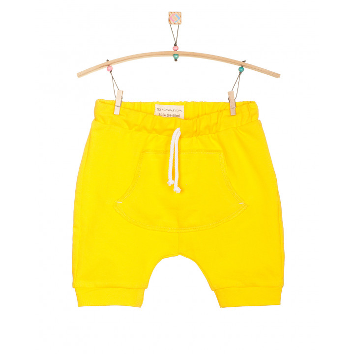 Детские шорты SH001-2zh желтые с кармашком