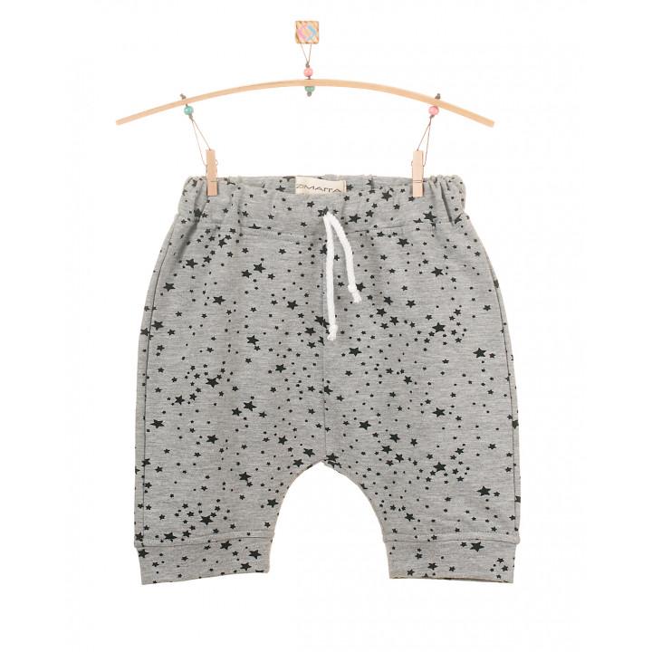 Детские шорты SH002 серый меланж звезда