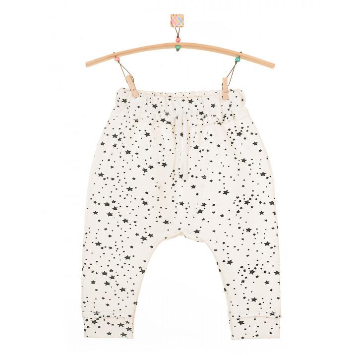 Детские штаны SHT001 (молочные, звезды)