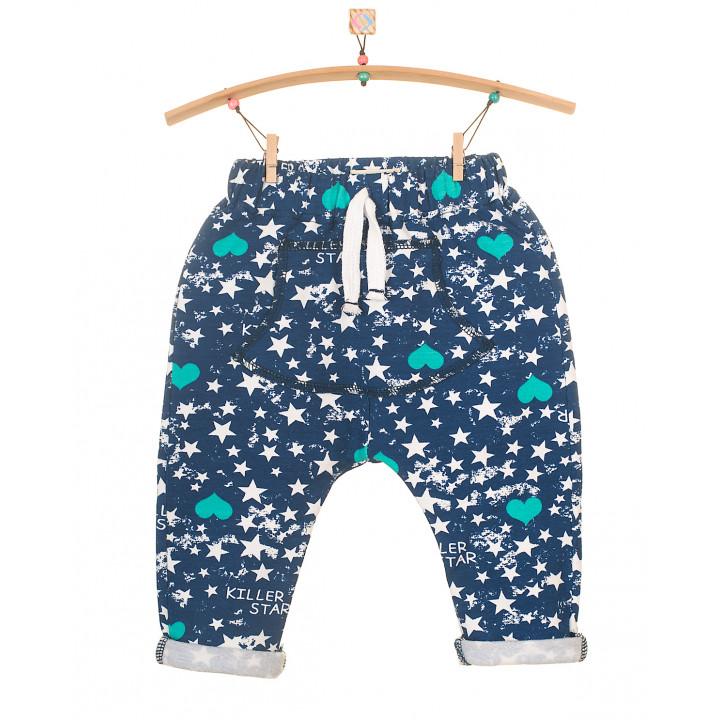 Детские штаны SHT002 синие с начесом