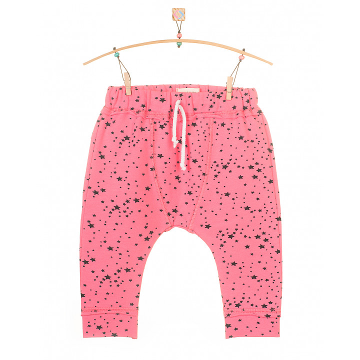 Детские штаны SHT001 (розовые, звезды)