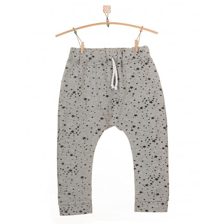 Детские штаны SHT001 (серый меланж, звезды)