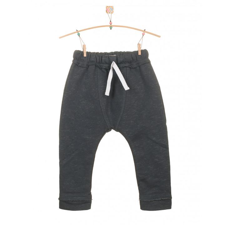 Детские штаны темно серые с белым шнурком SHT001-3SHtsb