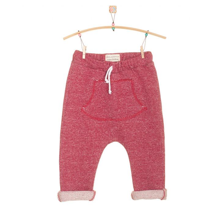 Детские штаны SHT002 бордовые с кармашком