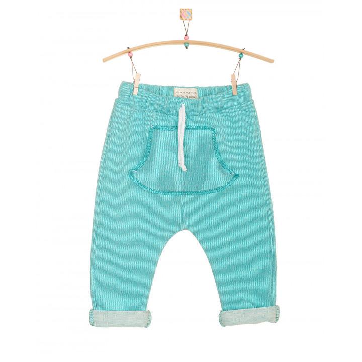 Детские штаны SHT002 ментоловые с кармашком