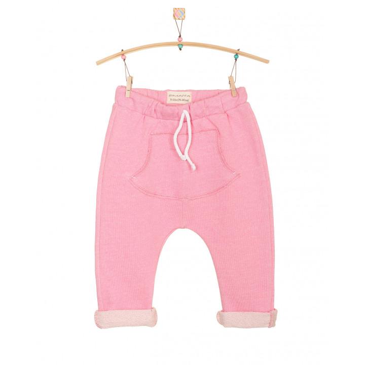 Детские штаны SHT002 розовые с кармашком