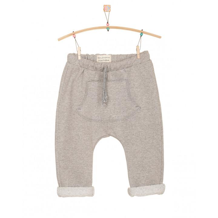 Детские штаны SHT002 серо-бежевые с кармашком