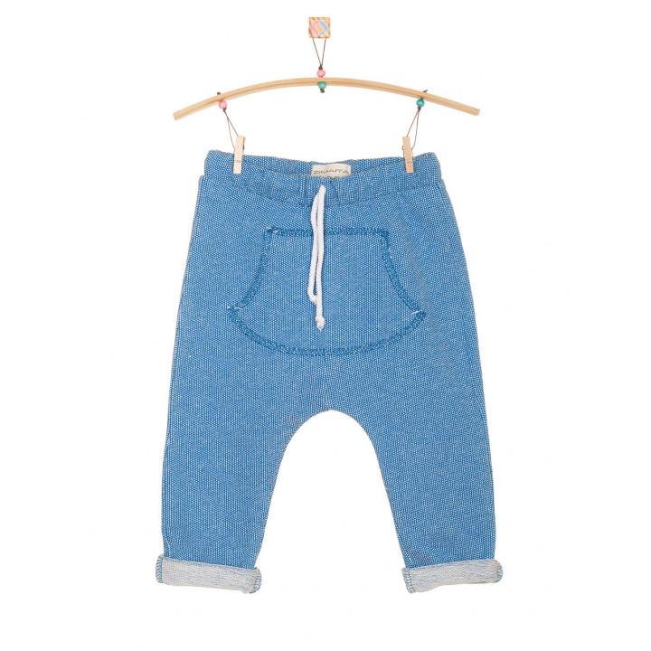 Детские штаны SHT002 синие с кармашком