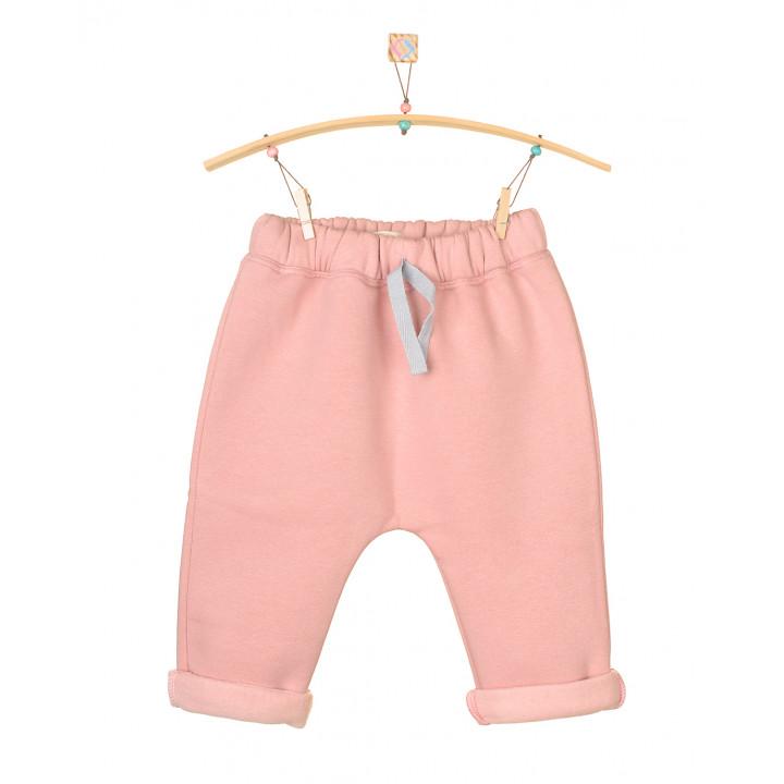Детские штаны серо-розовые с начесом SHT004-3Nsr