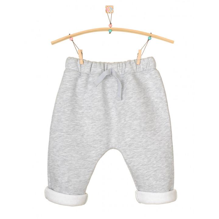 Детские штаны серый меланж с начесом SHT004-3Nsm