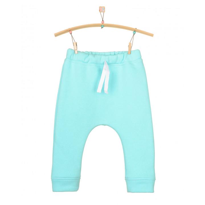 Детские тёплые штаны с начесом небесные SHT005-3Nneb