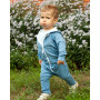 Детский спортивный костюм SK001 с капюшоном синий
