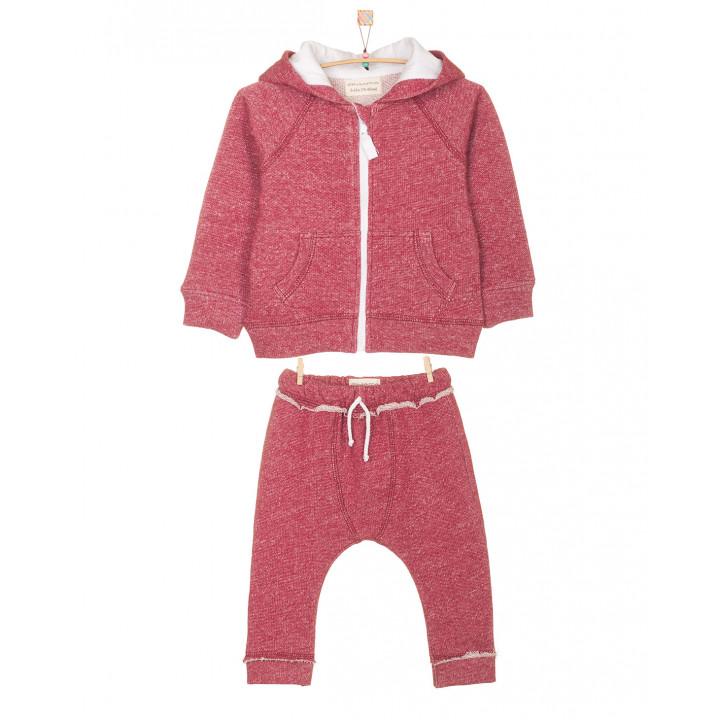 Детский спортивный костюм SK001 с капюшоном бордовый