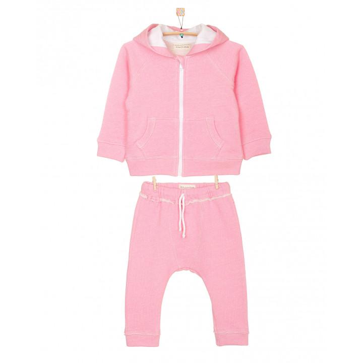 Детский спортивный костюм SK001 с капюшоном розовый