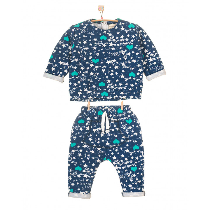 Детский костюм SK002 синий с начесом