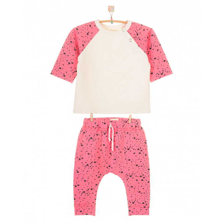 Детский костюм SK005 (розовый, звезды)