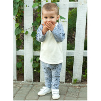 Детский костюм SK005 (серый меланж, звезды)