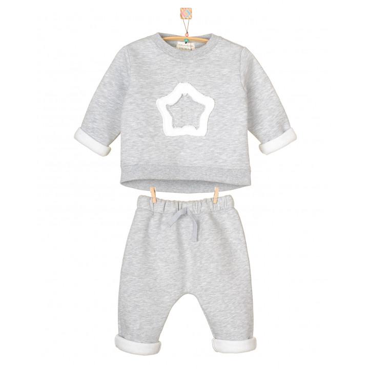 Детский спортивный костюм SK007-3Nsm серый меланж