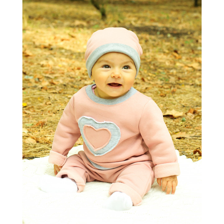 Детский спортивный костюм SK007-3Nsr серо-розовый
