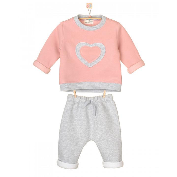 Детский спортивный костюм SK007-3Nsr3Nsm серо-розовый