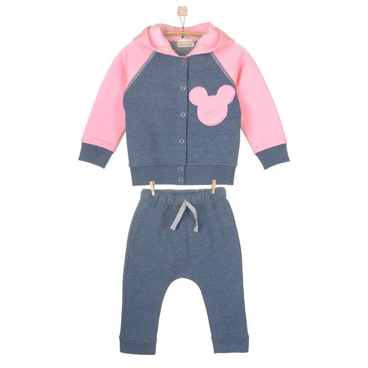 Детский тёплый спортивный костюм с начёсом SK008-3Nsinm3Nr (синий, розовый)