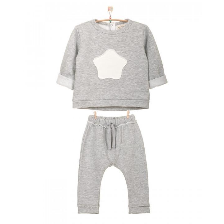 Детский спортивный костюм SK102-3sm  серый меланж