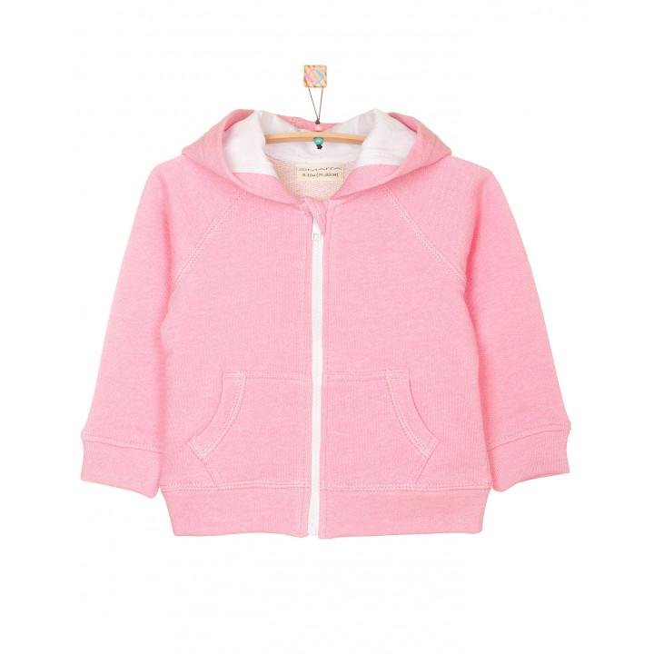 Детская толстовка с капюшоном розовая TLS001-3Pr
