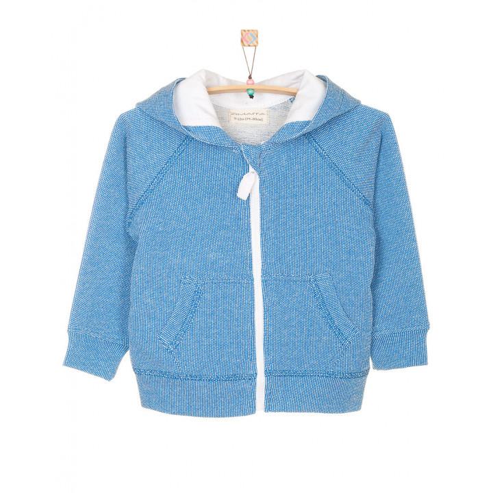 Детская толстовка с капюшоном синяя TLS001-2Tsin
